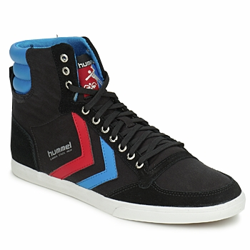Chaussures Homme Baskets montantes Hummel TEN STAR HIGH CANVAS Noir / Bleu / Rouge