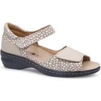 Chaussures Femme Sandales et Nu-pieds Calzamedi SANDALE MODE BEIGE