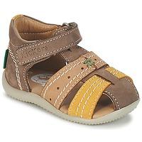 Chaussures Garçon Sandales et Nu-pieds Kickers BIGBAZAR Marron / Beige / Jaune