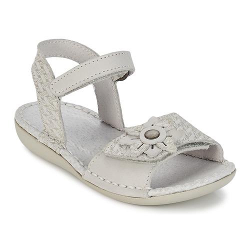 Chaussures Fille Sandales et Nu-pieds Kickers EVANA Blanc cassé