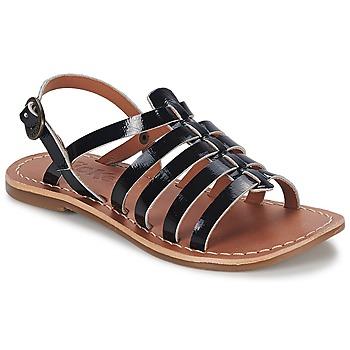 Chaussures Fille Sandales et Nu-pieds Kickers DIXMILLION Noir vernis
