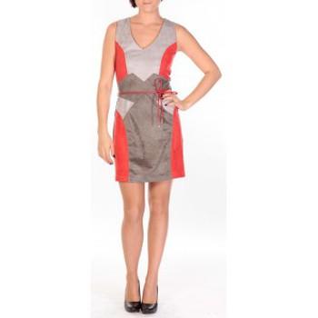 Vêtements Femme Robes courtes Dress Code Robe Fraise rouge/gris/anthracite Rouge