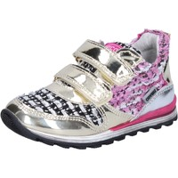 Chaussures Fille Baskets basses Enrico Coveri COVERI sneakers or textile cuir verni BX821 or