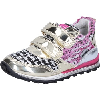 Chaussures Fille Baskets basses Enrico Coveri chaussures fille  sneakers or textile cuir verni BX821 or