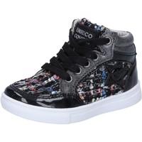 Chaussures Fille Baskets montantes Enrico Coveri COVERI sneakers noir textile cuir verni BX822 noir