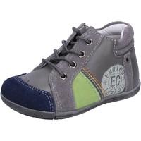 Chaussures Garçon Baskets basses Enrico Coveri chaussures garçon  sneakers gris daim cuir BX827 gris