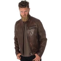 Vêtements Homme Vestes en cuir / synthétiques Daytona 73 STARGET LAMB PAOLO DARK COGNAC Marron