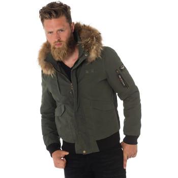 Vêtements Homme Blousons Daytona 73 STARK HOOD WAX KHAKI Kaki