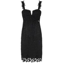 Vêtements Femme Robes Guess Robe Femme Phobe dentelle Noir 38