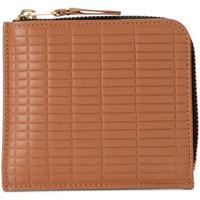 Sacs Femme Portefeuilles Comme Des Garcons Porte-monnaie  Brick Line en peau couleur cuir Brun
