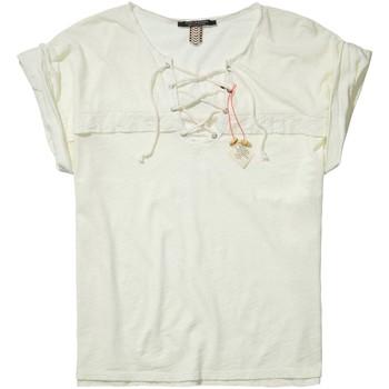 Vêtements Femme T-shirts manches courtes Scotch & Soda 131234 Ivoire