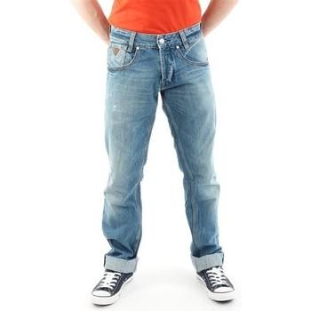 Vêtements Homme Jeans droit Guess Outlaw M21068D0EY2 STNY niebieski