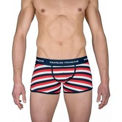 Vêtements Homme Boxers / Caleçons Garcons Francais Boxer Homme Coton LILLE Marinière Tricolore blanc