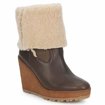 Chaussures Femme Bottines Pare Gabia NELICE Chocolat