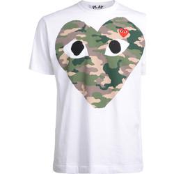 Vêtements Homme T-shirts manches courtes sages femmes en Afriques T-Shirt  blanc avec coeur de Blanc