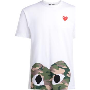 Vêtements Homme T-shirts manches courtes Comme Des Garcons T-Shirt homme  blanc avec coeur Blanc