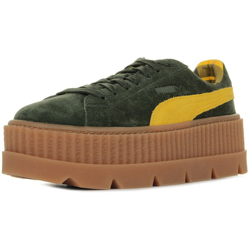1ebe470109d Puma Rihanna Cleated Creeper Suede vert - Chaussures Baskets basses ...