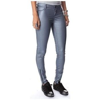 Vêtements Femme Pantalons Teddy Smith JEG ZIP POWER SHINY Gris