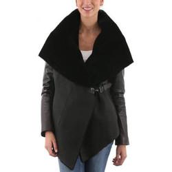 Vêtements Femme Vestes en cuir / synthétiques Giorgio Adelina SOFT Noir Noir