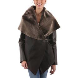 Vêtements Femme Vestes en cuir / synthétiques Giorgio Adelina THUR Marron Marron