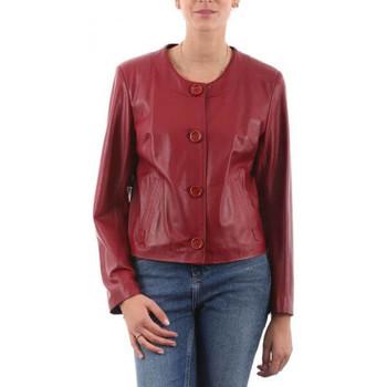 Vêtements Femme Vestes en cuir / synthétiques Giorgio Aline Rouge Rouge