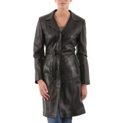 Vêtements Femme Vestes en cuir / synthétiques Giorgio Deborah Noir Noir