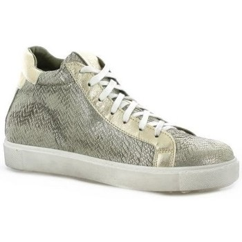 Chaussures Femme Baskets montantes Mb78 Baskets toile serpent Or