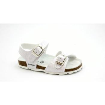 Chaussures Enfant Sandales et Nu-pieds Grunland ARIA SB0241 sandale fille blanche boucles paillettes birk Bianco