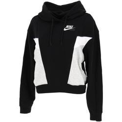 Vêtements Femme Sweats Nike Heritage lady fleece hoodie Noir