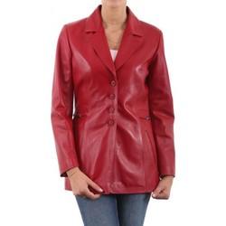 Vêtements Femme Vestes en cuir / synthétiques Giorgio Lea Rouge Rouge