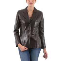 Vêtements Femme Vestes en cuir / synthétiques Giorgio Sandrine Marron Marron