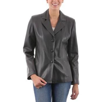 Vêtements Femme Vestes en cuir / synthétiques Giorgio Sandrine Gris Gris