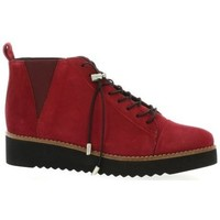 Chaussures Femme Boots Vidi Studio Boots cuir velours rouge