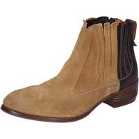 Chaussures Femme Low boots Moma bottines beige daim bordeaux cuir BT18 beige