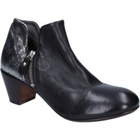 Chaussures Femme Bottines Moma bottines noir cuir argent BT38 noir