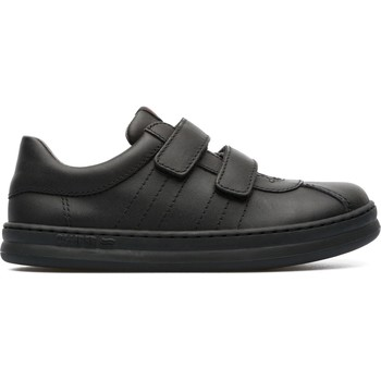 Chaussures Fille Baskets basses Camper Baskets velcro cuir RUNNER FOUR noir