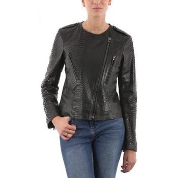 Vêtements Femme Vestes en cuir / synthétiques Giorgio Murielle PYTHON Noir Noir