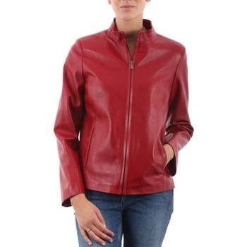Vêtements Femme Vestes en cuir / synthétiques Giorgio Margot Waxy Rouge Rouge