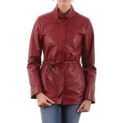 Vêtements Femme Vestes en cuir / synthétiques Giorgio Laury Rouge Rouge