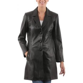 Vêtements Femme Vestes en cuir / synthétiques Giorgio Leana Noir Noir