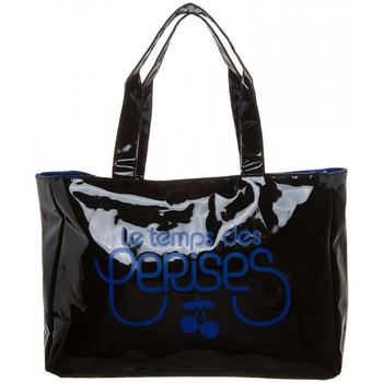Sacs Femme Sacs porté main Le Temps des Cerises Sac  Rumba 4 Noir/Bleu
