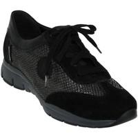 Chaussures Femme Baskets basses Mephisto YAEL Noir velours