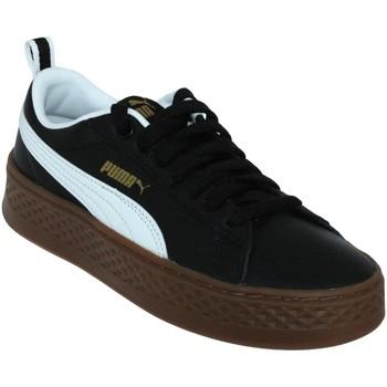 Chaussures Baskets basses Puma Smash platform Noir/Blanc cuir