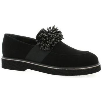 Chaussures Femme Mocassins Mitica Mocassins cuir velours Noir