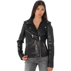 Vêtements Femme Vestes en cuir / synthétiques Ladc ENORA CRUNCH BLACK Noir
