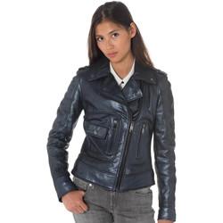 Vêtements Femme Vestes en cuir / synthétiques Ladc GEORGIA ANTIK METAL ANT BLUE Bleu