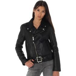 Vêtements Femme Vestes en cuir / synthétiques Schott LCW8618 BLACK Noir