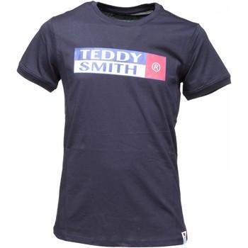 Vêtements Garçon T-shirts manches courtes Teddy Smith Tee Shirt Garçon manches courtes imprimé Bleu