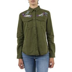 Vêtements Femme Chemises / Chemisiers Guess w83h54 vert
