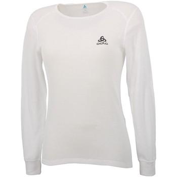 Vêtements Femme T-shirts manches longues Odlo Warm blanc rdc ml tee lad Blanc